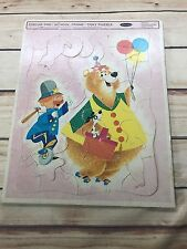 Vintage 1964 CIRCUS PRE-SCHOOL Frame-Tray Puzzle BEAR  Whitman Development