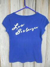Vintage 70's Hadley Blue Bowling Shirt Worn by Wpba Loa Boxberger Size M