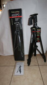 "Platinum Plus 6000PG Tripod by Sunpak 61 inch, ""New"""
