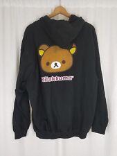 Rilakkuma Full Zip Up Jacket Hoodie Japanese Anime San-X Mens Adult 2XL XXL Rare