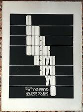 Omar Rayo Paintings Prints Poster Serigraph Galeria Colibri Puerto Rico 1974