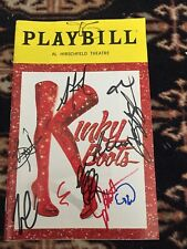 Kinky Boots Cast Signed Playbill
