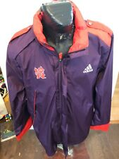 MENS XLarge Adidas Zip Front Nylon Jacket London Olympics 2012