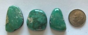 NEVADA NATURAL PIXIE TURQUOISE 3 CABS 55 CARATS P3