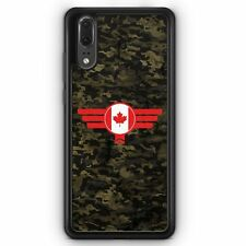 Huawei P20 SILIKON Hülle Canada Kanada Camouflage Motiv Design Militär Military