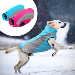 Large Dog Clothes Reflective Dog Coats Winter Waterproof Dog Fleece Jacket Vest