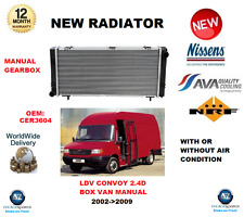 FOR LDV CONVOY BOX VAN MANUAL 2.4 D 2002->2009 NEW RADIATOR CER3604 OE QUALITY