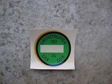 DDR Plakette GT NVA Grenztruppen Abziehbild KFZ Grenze