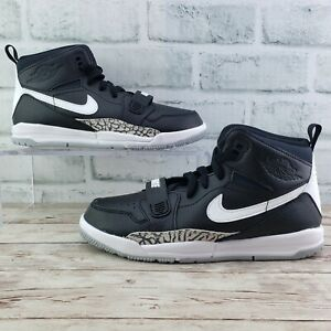 New Nike Air Jordan Legacy 312 PS Black/White Kid's Shoes AT4047-001 Size 2Y