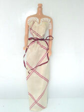1980 Superstar Barbie Fashion Collectibles Outfit #1901 Cream Burgandy Dress
