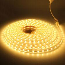 1-10M Waterproof SMD 5050 LED Strip 220V 60 leds/m Flexible Tape Rope Light Cool