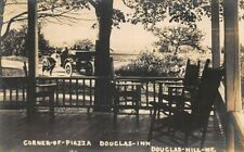 Douglas Hill ME Douglas Inn Corner-of Piazza Real Photo Postcard