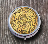 ARCHANGELS SEAL OF ALL 7 PILL BOX ROUND METAL -bft6Z