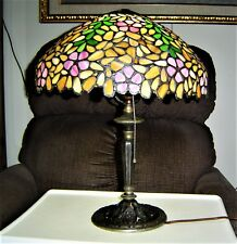 Authentic Leaded Glass Shade by Northeastern Lamp Co.  .
