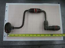 Vintage Dunlap Handcrank Brace Bit Drill -- Antique Woodworking Tool