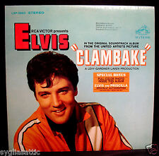 ELVIS PRESLEY-CLAMBAKE-Film Soundtrack Album w/Bonus Photo-RCA VICTOR #LSP-3893