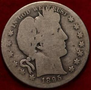 1895-S San Francisco Mint Silver Barber Half Dollar