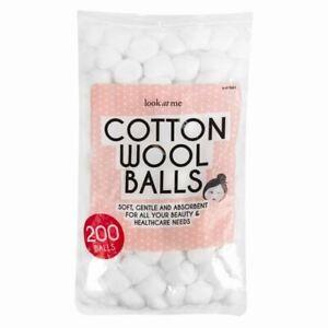 200 Cotton Wool Balls Make Up Nail Polish Varnish Remover Cleaning Soft