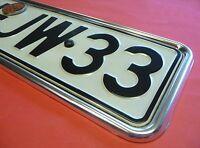 VW Käfer Kennzeichenunterlage ALU HOCHGLANZ vorne oder hinten     020-205906