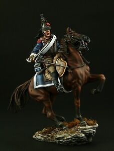 Tin soldier, Museum (TOP), French Cuirassier on horseback 90 mm, Napoleonic Wars