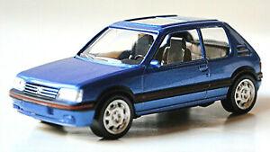Peugeot 205 Gti 1,9 Limousine 1986-92 Blue Metallic 1:43 Norev 430201