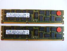 2x 8GB Samsung M393B1K70CH0-YH9Q5S 16GB DDR3 1333MHz PC3L-10600R ECC Server RAM