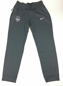 New Nike UCONN Huskies Dri-FIT Basketball Warm-Up Pants Gray Women's M AT5308