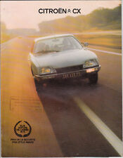 Catalogue publicitaire CITROEN CX