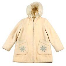 Vintage Hudson Bay Wool Eskimo Parka Coat Jacket Fur Hooded Size 10 Snowflakes