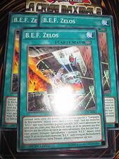 YU-GI-OH! COM B.E.F. ZELOS PLAYSET ( 3 CARTES) MACR-FR062 EDITION 1 NEUF MINT