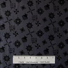 Almost Amish Fabric - Traditional Quilt Blocks Dark Gray - RJR YARD
