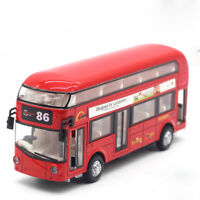 London Bus Double Decker Bus Diecast Car Model Toy Vehicle Red Collection Gift