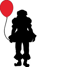 """New! IT Pennywise Balloon 4""""X7"""" Vinyl Decal WALL/ LAPTOP/ CAR"""