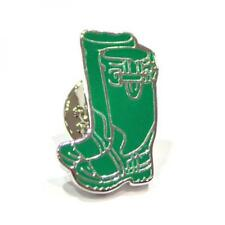 Green Wellies Design Silver Plated Lapel Pin Badge Countryside Welly Badges New