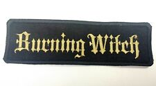 Burning Witch Embroidered Patch Iron/sew Black Metal Sludge Doom