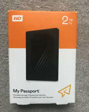 WD Passport 2TB Portable External Hard Drive - Black