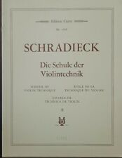 SCHRADIECK - Scuola di tecnica violinistica vol. 2