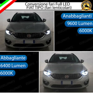 CONVERSIONE FARI FULL LED FIAT TIPO S-DESIGN 6000K LED CANBUS ALTA LUMINOSITA'