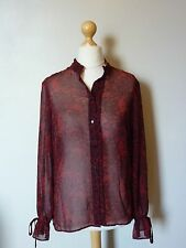 Marks & Spencer Limited Edition Gothic Boho Blouse Shirt 14 BNWT RRP £38.99 Red