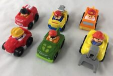 Mixed Lot Of 6 Fisher Price Wheelies Little People Vehicles Fire Truck Tractor