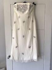BNWT Monsoon Bridal Ivory Francine Ethnic Floral Beaded Detail Bustier Dress 12