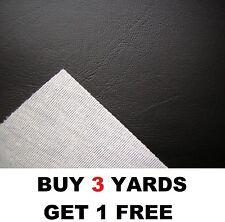 Black Heavy FR Upholstery Faux Leather Vinyl Leatherette Fabric Fire Retardant
