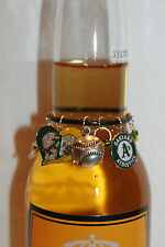 Oakland Athletics Beer Charm Oakland Wine Charm Baseball Charm Oakland A's Charm