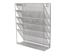 6 Tier Hanging Wall File Holder Mail Sorter Magazine Rack Office Supplies Metal