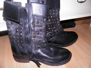 UGG leather ankle boots. Metal stud pattern. Size 4.5