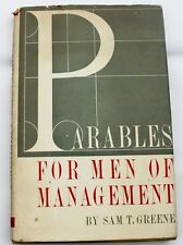 Vintage PARABLES FOR MEN OF MANAGEMENT Greene 1961 1st Ed HB Book Bible Faith