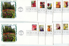 5042-51 Botanical Art, set of 10 Panda Cachets, FDCs