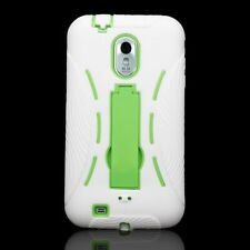 For Samsung Galaxy S2 S 2 II Epic Touch 4G Case White Neon Green Hybrid Cover