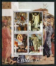 Niuafo'ou 2017 MNH Easter Art Paintings Botticelli Titian Perugino 4v M/S Stamps