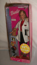 Barbie Pet Doctor Doll Dented Box Never out of Box Veterinarian 2000 Blonde Dog